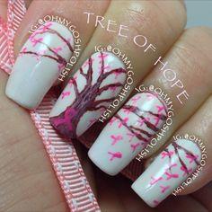 Breast Cancer Awareness by ohmygoshpolish #nail #nails #nailart