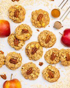Apple Cookies, Brownie Cookies, Keto Cookies, Oatmeal Cookies, Cookie Bars, Yummy Cookies, Baking Recipes, Cookie Recipes, Dessert Recipes