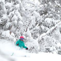 This recent sneaker storm as brought nonstop smiles and shredding. #resort #happy #ski #snowbird #utah #snow