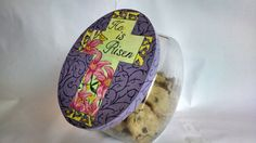 Easter Cross Cookie Jar Lid by MTDesignsCrafts on Etsy, $20.00