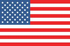 Vector american flag Royalty Free Stock Image