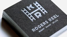 Awesome letterpress business card design with silver foil (?) ink by Mattson Creative