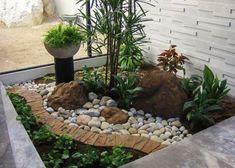 development of small rockery garden