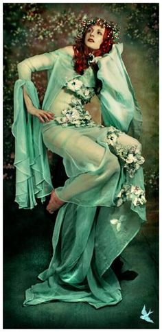 Photographer's version of one of Four Seasons by Mucha