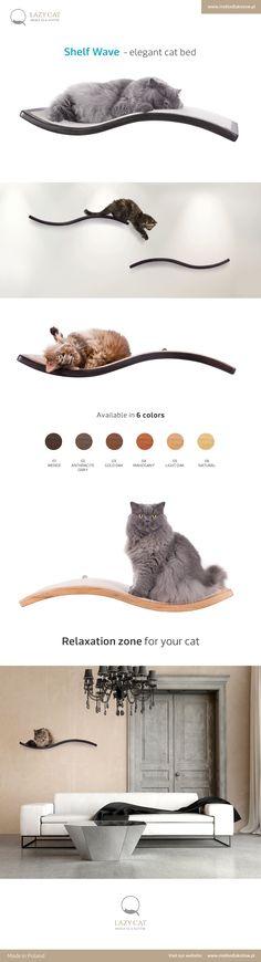 Shelf Wave - elegant cat bed