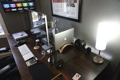 Post Your Mac Setup: Past & Present (Part Home Office Setup, Desk Setup, Imac Setup, Office Desk, Mac Desk, Pc Table, Workspace Inspiration, Room Decor, Macbook Pro