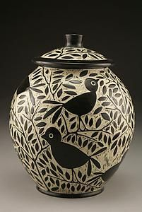 Blackbird Cookie Jar: Jennifer Falter: Ceramic Cookie Jar | Artful Home
