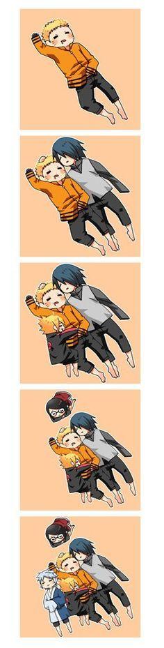 Naruto - Sasuke - Boruto - Sarada - Mitsuki