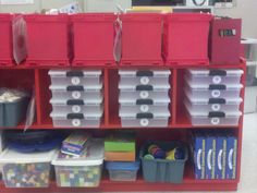 Math Work Station Containers