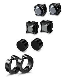 4 Pairs Stainless Steel Stud Earrings for Men Women Magnetic Stud Earrings  Non-piercing CZ - CC1899S69AA 6b6233a88c52