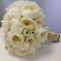 Peony and garden roses bridal bouquet