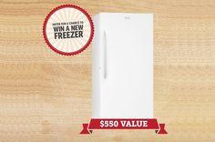 Win a New Freezer