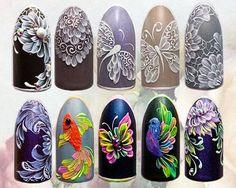 Fish Nail Art, Gel Nail Art, Butterfly Nail Art, Flower Nail Art, Monogram Nails, Animal Nail Art, Vintage Nails, Nails First, Gel Nail Designs