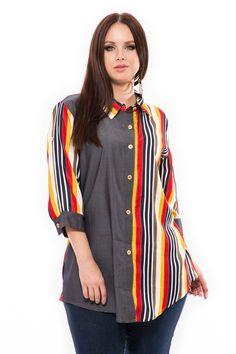 A színek és a kétféle anyag kombinációja teszi egyedivé ezt az inget. Pamut farmer alapú anyaga, jól kiemeli a csíkokat és divatossá teszi amit a gombok tovább díszítik. Na, bevállalod? Fifa, Farmer, Tunic Tops, Blouse, Long Sleeve, Sleeves, Women, Fashion, Moda