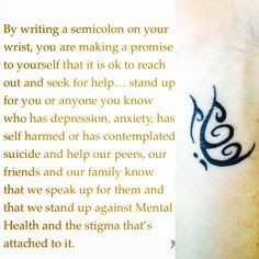 semicolon and butterfly tattoo - Google Search