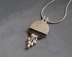 Sterling silver pendant - sterling silver necklace - silver jewelry - handcrafted