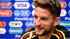 """Dries Mertens heeft na de zaterdagtraining in Sotsji vooruitgeblikt naar de Belgische WK-opener tegen Panama. """"De drie punten zijn genoeg, maar het zou leuk zijn mochten we veel doelpunten kunnen maken."""""""