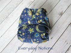 Cloth Diaper - Celestial Night - One Size Pocket Cloth Diaper by EverydayNotions4You on Etsy