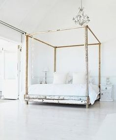 Four poster bed, can be made with reclaimed timber.