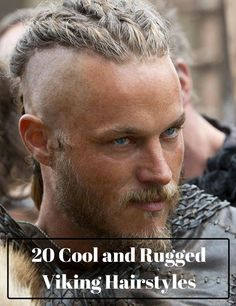 Have you watched Vikings? Did you love it? We did, too! Here are 20 Cool and Rugged Viking-Inspired Hairstyles for you to try ASAP!  #vikings #vikinghair #vikingshairstyle Vikings Tv Show, Vikings Actors, Vikings Tv Series, Vikings Travis Fimmel, Travis Fimmel Vikingos, Ragnar Lothbrok Vikings, Viking Men, Viking Warrior, Viking Shop