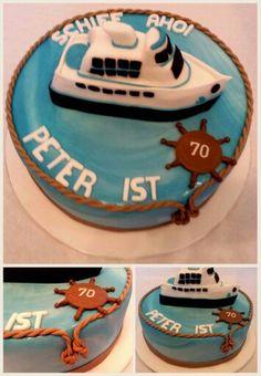 Motivtorte Schiff Birthday Cake, Desserts, Petra, Food, Birthday, Kuchen, Gifts, Tailgate Desserts, Deserts