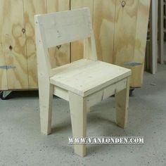 Eetkamerstoel / stoel van nieuw steigerhout ... www.vanlonden.com