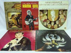 Hank Williams Jr. Lot of 5 Vinyl Records Family Tradition Life Story Sunshine