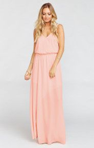 Kendall Maxi Dress ~ Frosty Pink Crisp