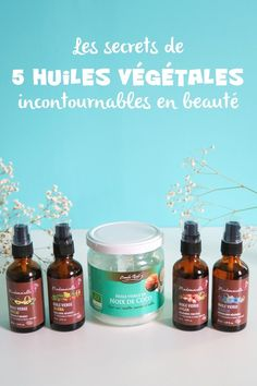 Les huiles végétales incontournables Beauty Care, Beauty Hacks, Ombre Hair, Glowing Skin, Girly Things, Coco, Natural Health, Health And Beauty, Hair Care