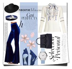 """""""necktie being bit blue"""" by shrutee-senapati ❤ liked on Polyvore featuring Peter Pilotto, Christian Dior, Dorfman Pacific, Whiteley, Versace, McQ by Alexander McQueen and Big Bud Press"""