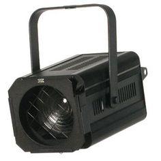 Proyector FRESNEL para lámpara 300 o 500 watios, con portalámparas GY9,5. Medidas 235 x 335 x 280 mm. Peso 4,00 kg. Incluye portafiltros. Lámpara y visera opcional.