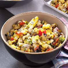 Contest-Winning Grilled Corn Salsa Recipe -Nothing beats the flavor of grilled vegetables, and this is a super way to use your garden bounty. I grill the veggies anytime I'm grilling something else, then whip up the salad and put it in the fridge to marinate. It's even better the next day. —Teri Kman Laporte, Colorado