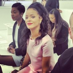 Rihanna with classy style at Dior Cruise 2015 http://bit.ly/1iujLFJ