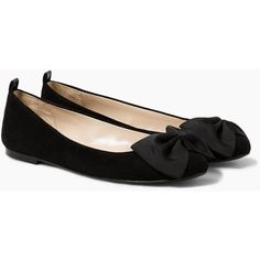 MANGO MANGO Bow Ballerinas ($25) ❤ liked on Polyvore featuring shoes, flats, bow ballet flats, embellished ballet flats, bow flats, bow ballerina flats and bow flat shoes