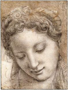 Renaissance Drawings: Sketches by Leonardo, Michelangelo, Raphael Michelangelo, Renaissance Kunst, Renaissance Portraits, Italian Renaissance, Chalk Drawings, Art Drawings, Drawings Of Angels, Figure Drawing, Painting & Drawing