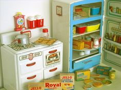 Vintage toy kitchen