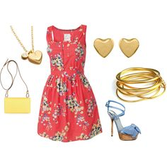 """""""Floral dress"""" by danilynn20 on Polyvore"""