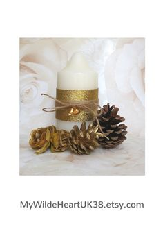 Lovely rustic Christmas candles - great for table centrepieces or for your festive decor.  Click through to my shop - lots of other gift ideas too