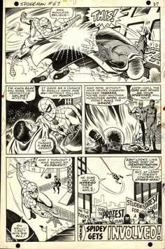 Amazing Spider-Man #67 End Page by John Romita Sr. & Jim Mooney Comic Art I actually have this issue.