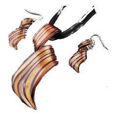 Schmuckset Murano Style Kette + Ohrringe Hand Made Schmuckband NEU (1043[12])Willkommen im  www.Chelsea-Fashion-Glamur.de  Shop Secondhand und Neuware Mode zu günstigen Preisen   Dies und Das für jeden was.....