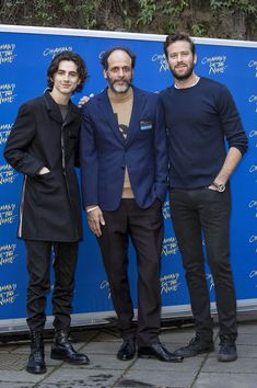 Timothee Chalamet, Luca Guadagnino, Armie Hammer promote Call Me By Your Name in Rome, January 24, 2018