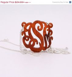 Valentines Day SALE HandCrafted Acrylic 3 Initials by CardinalGift, $21.99