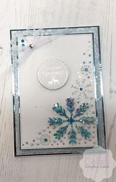 New In - Chloes Creative Cards - Chloes Creative Cards Chloes Creative Cards, Creative Christmas Cards, Christmas Cards To Make, Xmas Cards, Poinsettia Cards, Snowflake Cards, Snowflakes, Stamps By Chloe, Square Card