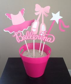 Ballet Themed Centerpiece  Set of 8  by 2CreativeGirls on Etsy, $15.00
