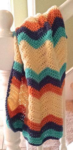 Chevron Baby Blanket Crochet lapghan Crochet by AnniesHookNook via ETSY