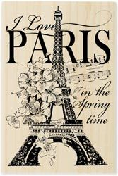 Stampendous Mounted Rubber Stamp P-I Love Paris