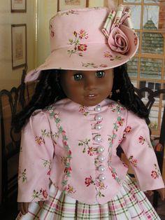 1800's Walking Costume for American Girl Doll. $55.00, via Etsy.