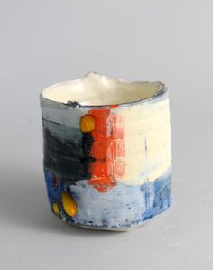 Vessel with Orange and Blue - Barry Stedman