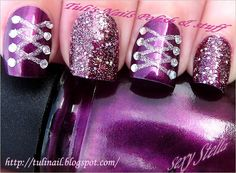 lacing is cute, maybe just on contrast nail?