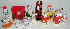 12 Disney McDonald's 101 Dalmatians Christmas Figures #Disney